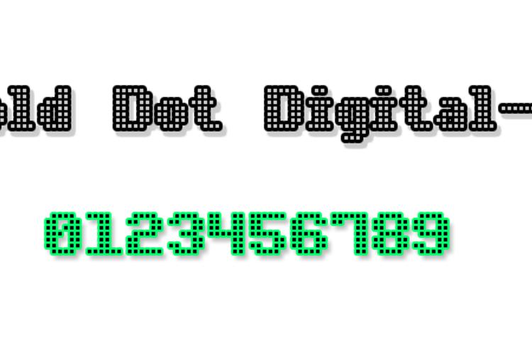 Bold Dot Digital-7 Font
