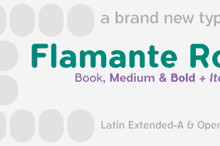 Flamante Round Font