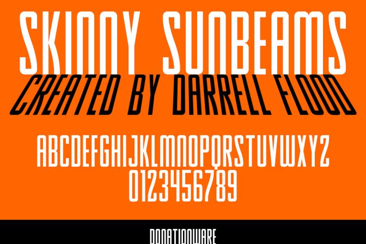 Skinny Sunbeams Font