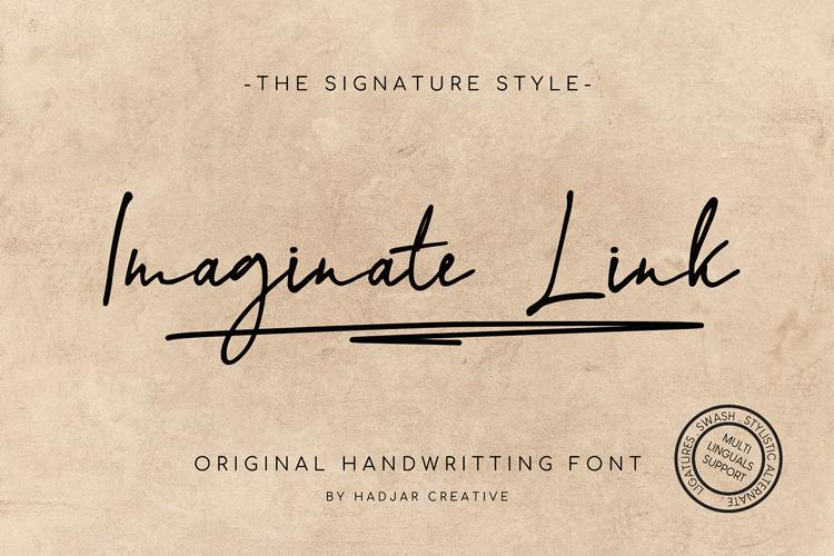 Imaginate Link Font