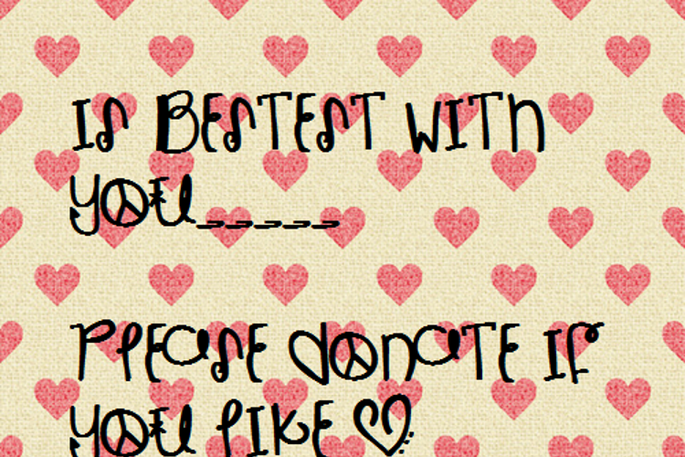 IsBestestWithYou Font