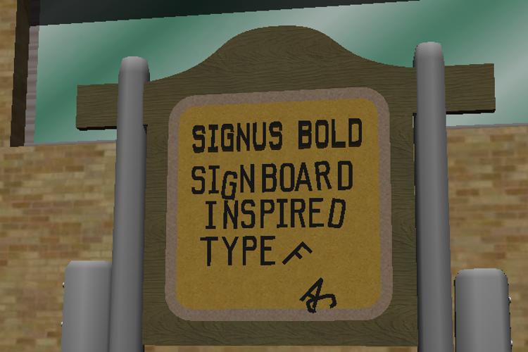 Signus Bold NBP Font