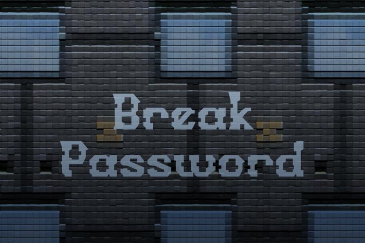 b Break Password Font