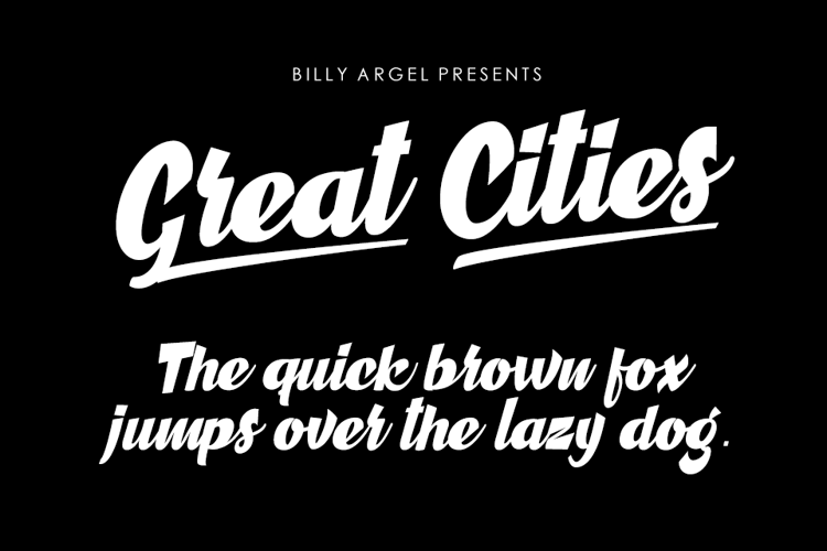 Great Cities Font