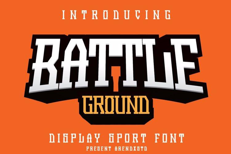 Battle Ground Font