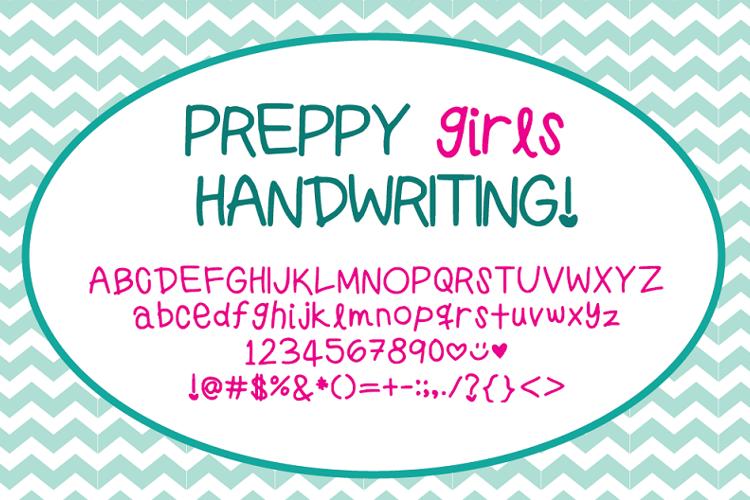 PreppyGirlsHandwriting Font