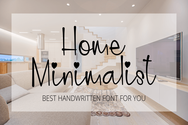 Home Minimalist Font