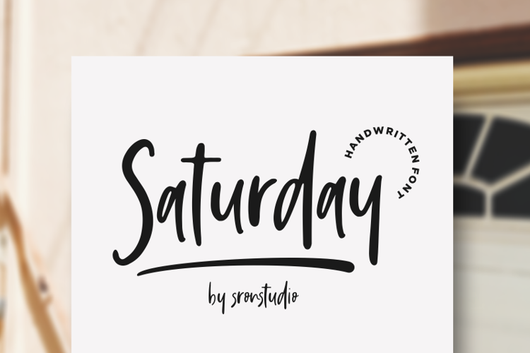 Saturday Vibes Font