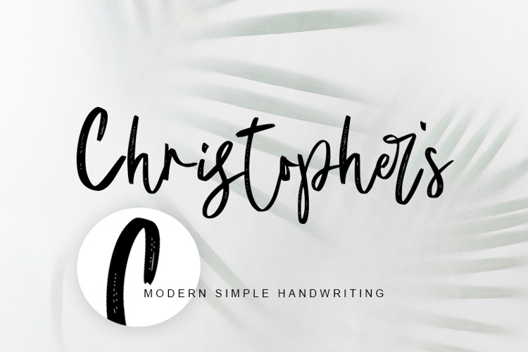 Christopher 's handwriting Font