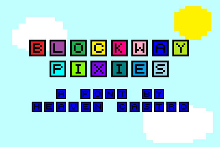 Blockway Pixies Font