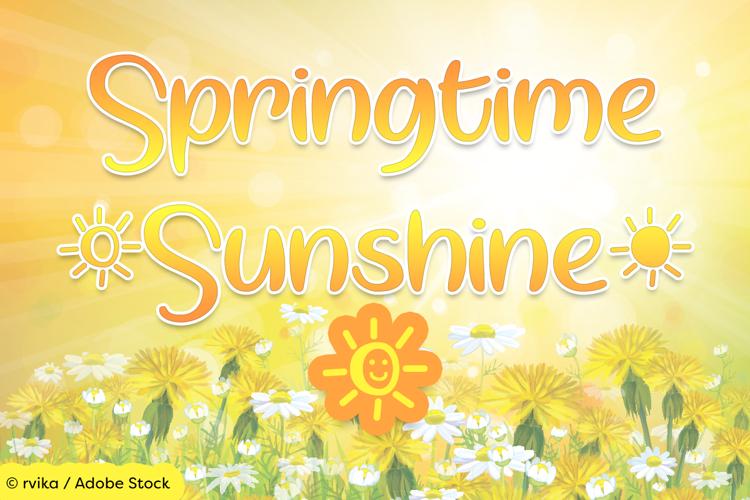Springtime Sunshine Font