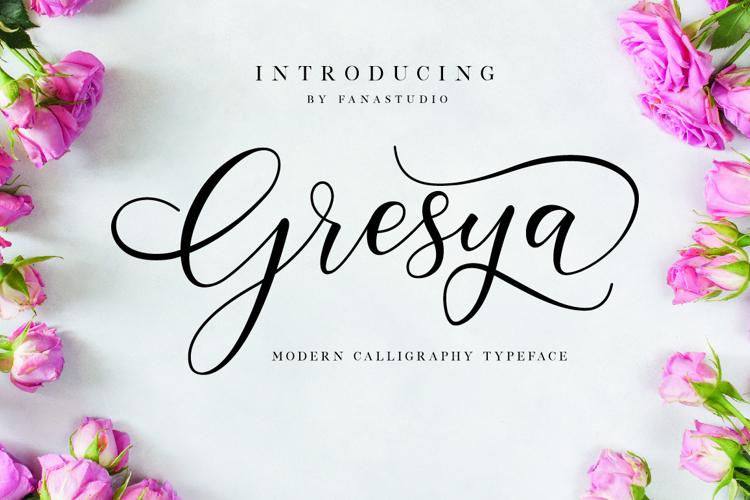 Gresya Font