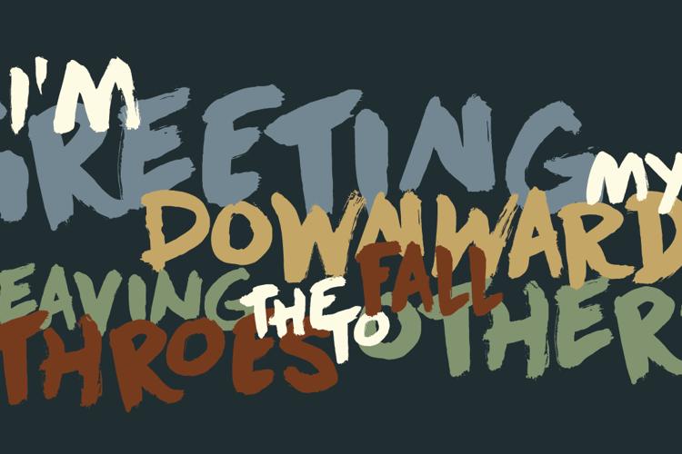 DK Downward Fall Font