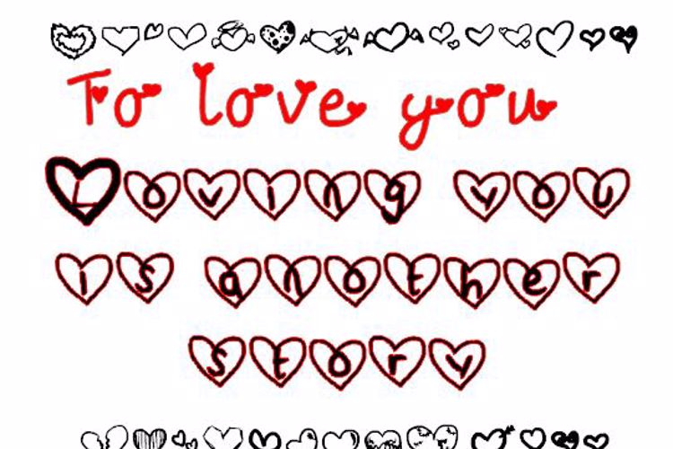 To love you. Font