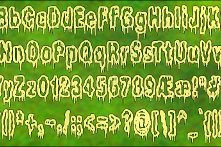 It Lives In The Swamp BRK Font