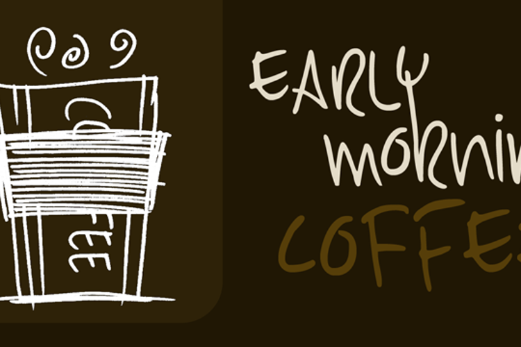 DK Early Morning Coffee Font