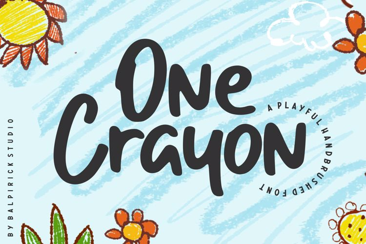 One Crayon Font