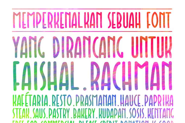 Faishal Font