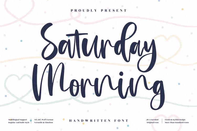 Saturday Morning Font