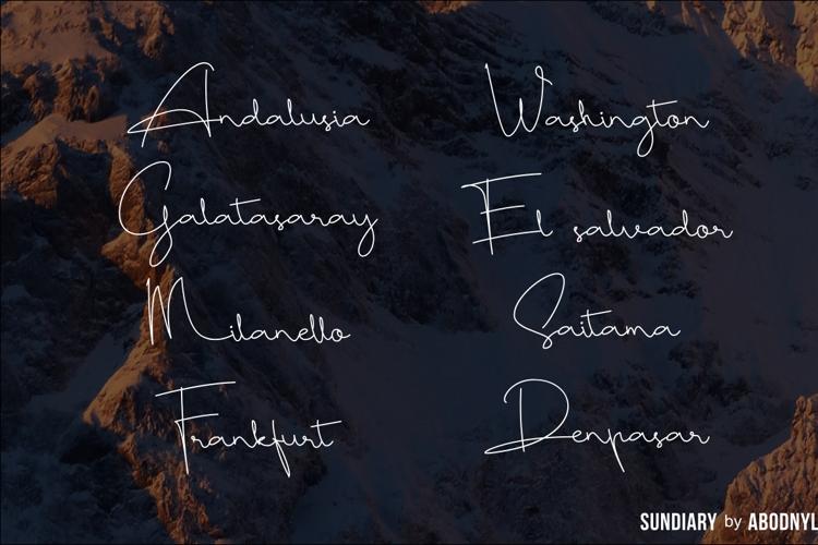Sundiary Font