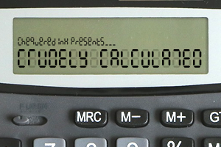 Crudely Calculated Font