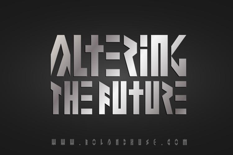 Altering The Future Font