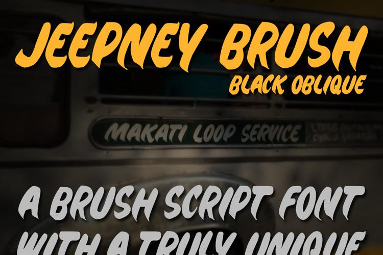 Jeepney Brush Font