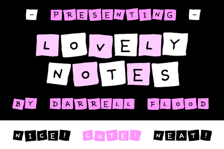 Lovely Notes Font