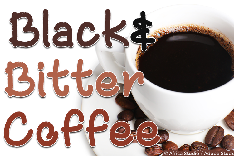 Black and Bitter Coffee Font