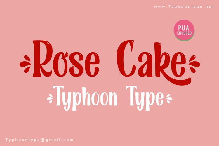 Rose Cake - Font