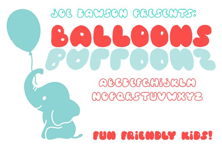 Balloons! Font