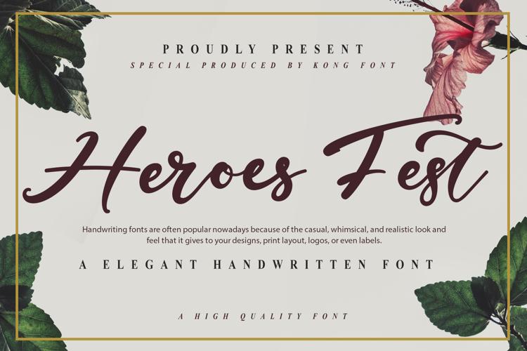 Heroes Fest Font