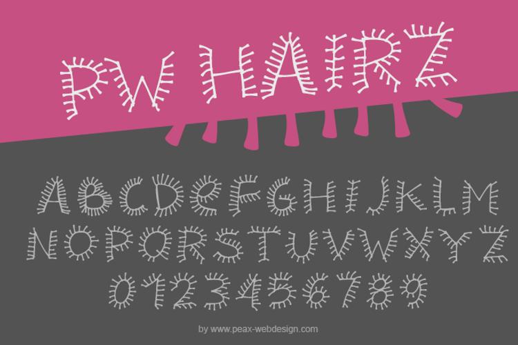 PWHairz Font
