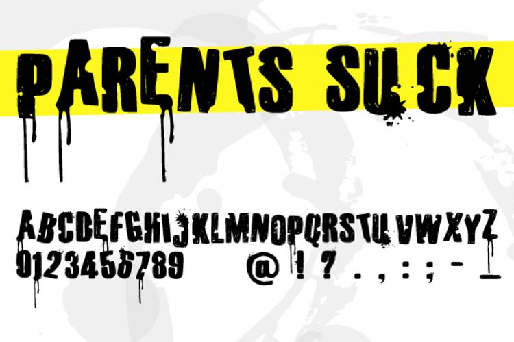 Parents Suck Font