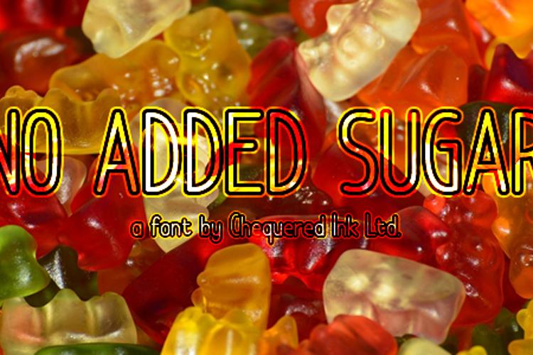 No Added Sugar Font