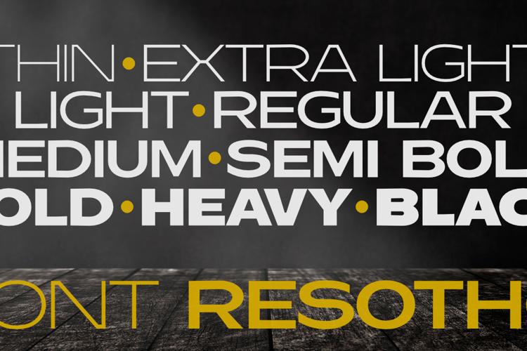 Resotho Extralight Font