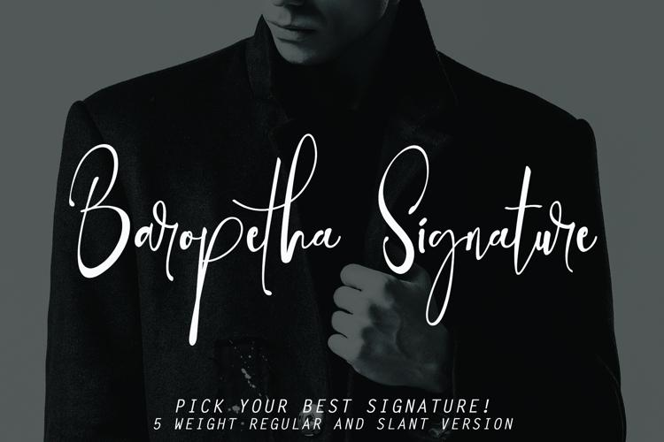 Baropetha Signature Family Font