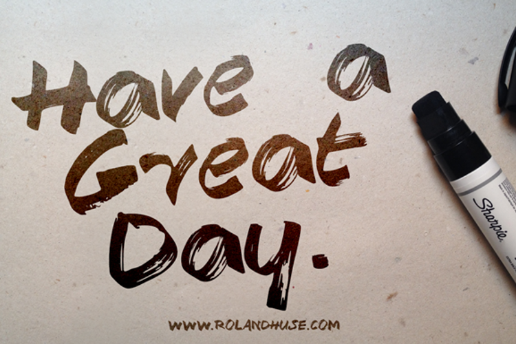 Have a Great Day Demo Font