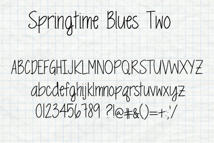 MRF Springtime Blues Two Font