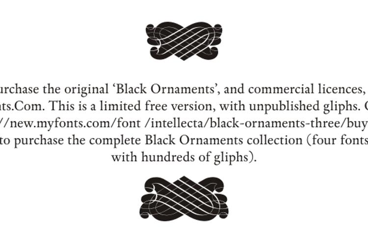 Black Ornaments Font