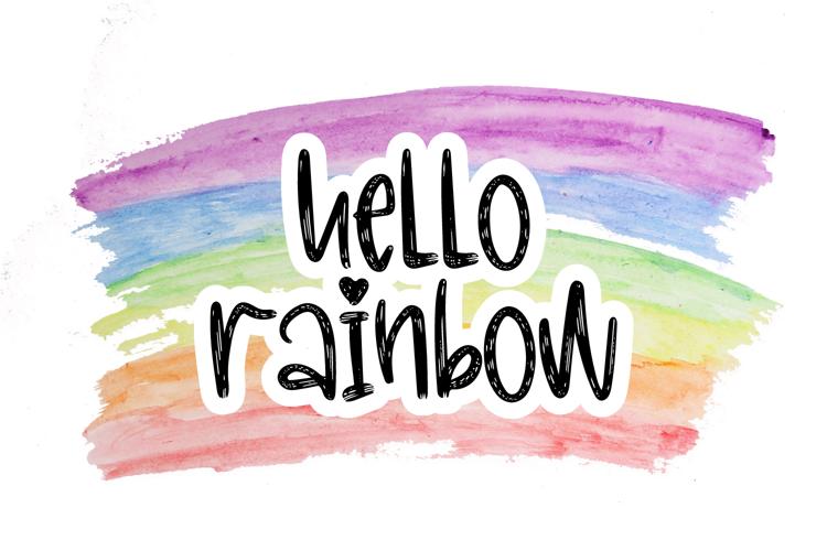 Hello Rainbow Font
