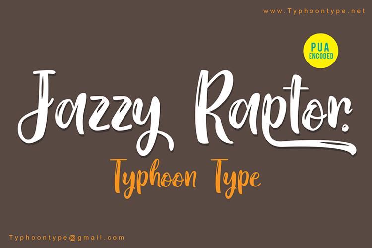 Jazzy Raptor Font