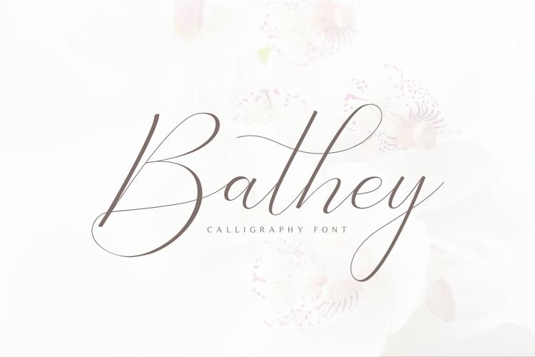 Bathey Font