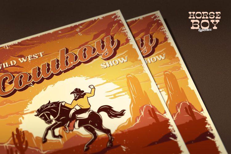 Horseboy flanel Font