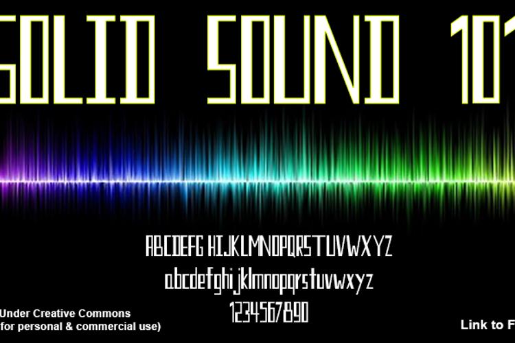 Solid Sound 101 Font