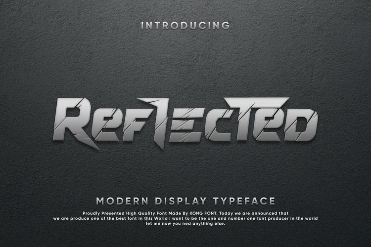 Reflected Font