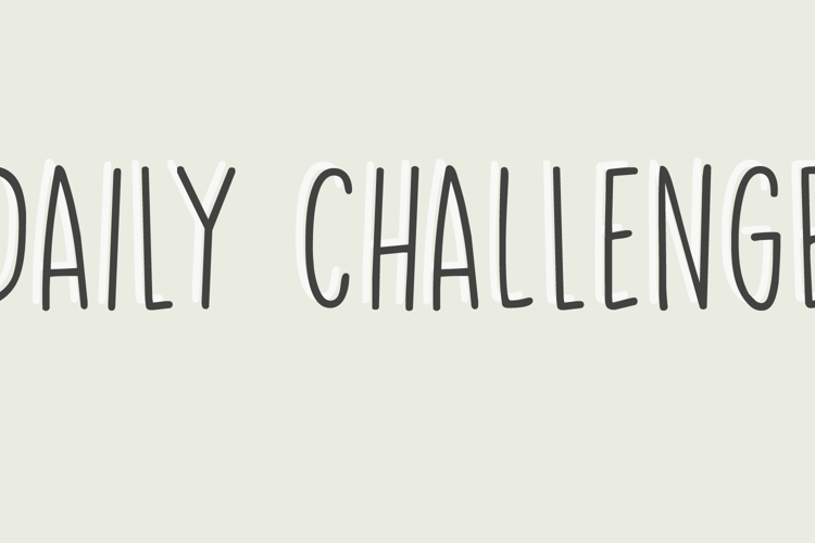 Daily Challenge Font