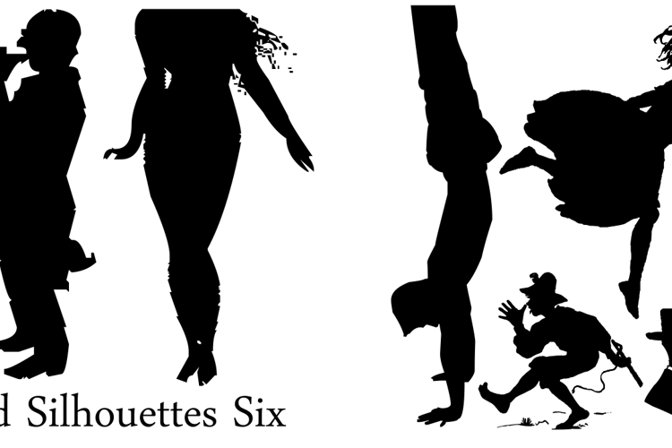 Mixed Silhouettes Six Font