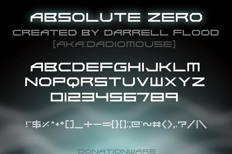 Absolute Zero Font