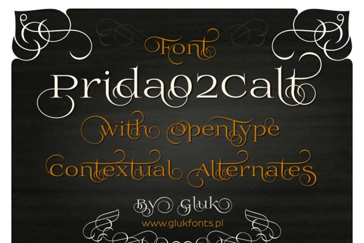 Prida02Calt Font
